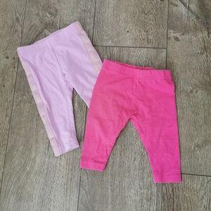 2/$15 George baby girl leggings bundle 3-6 m